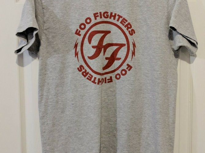 foo fighters red letters tee shirt