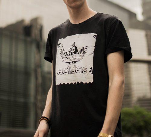 adidas grim reaper tee shirt