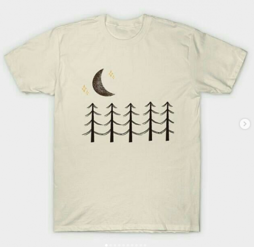 moon and trees t-shirt